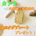 カフナ結婚指輪ご成約特典☆ハワイアン彫りタグプレートプレゼント
