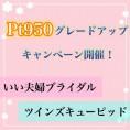 【いい夫婦ブライダル】&【ツインズキューピッド】pt950グレードアップキャンペーン開催!